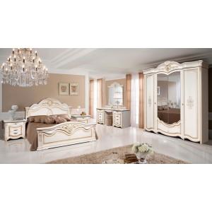 Спальня Джулия 4Д белое золото